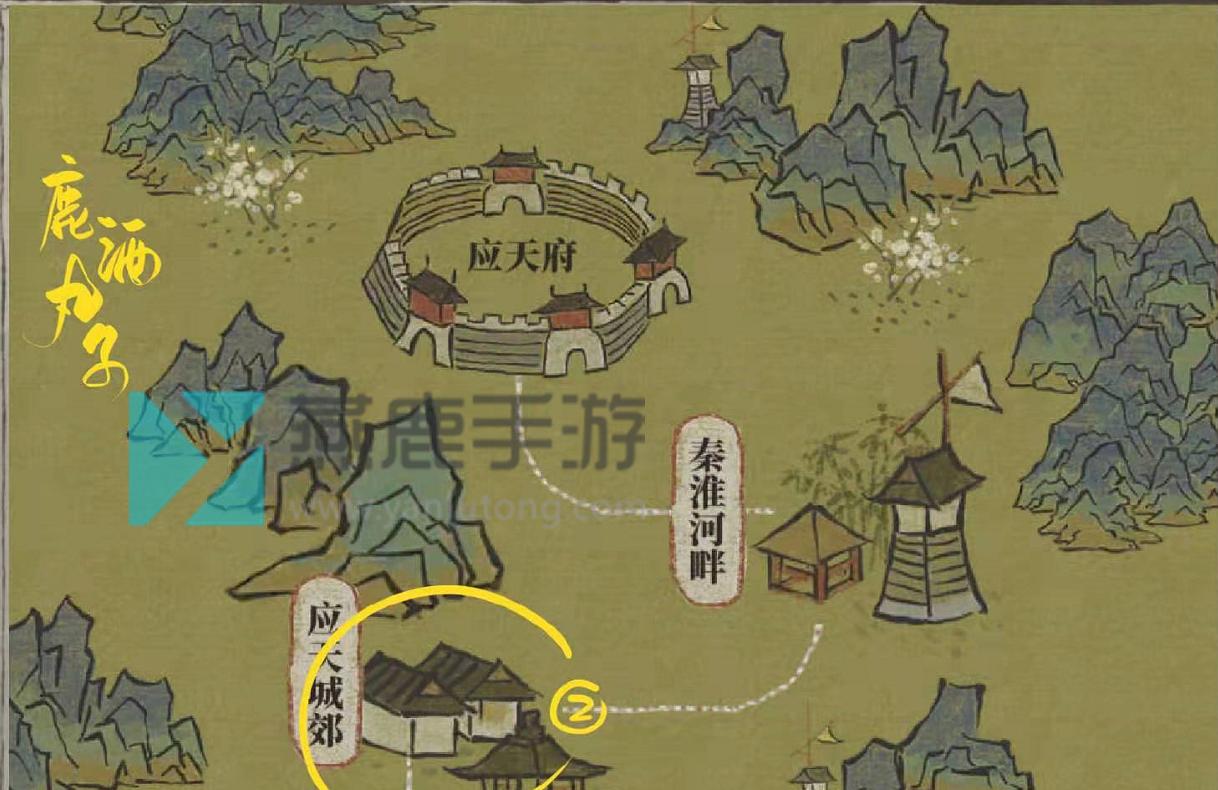 江南百景图百合花采集位置介绍2